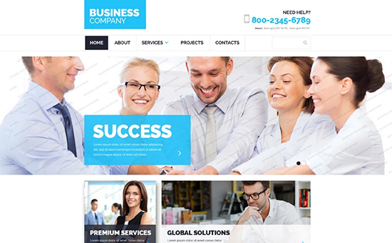 550 x free-business-website-template
