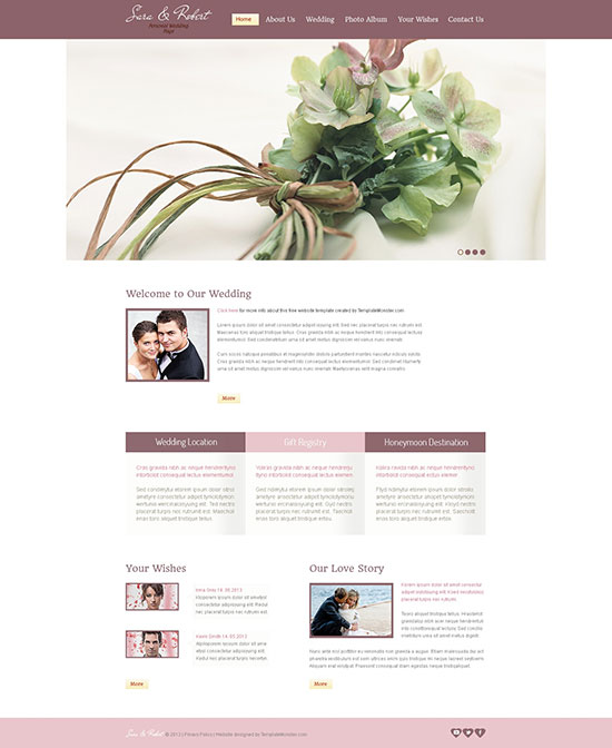 free-website-template-wedding
