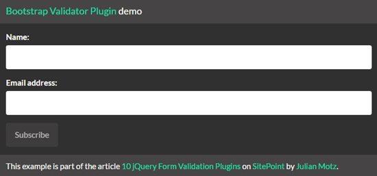 4. Bootstrap Validator
