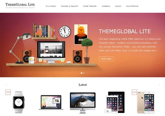 themeglobal-lite-free-opencart-template