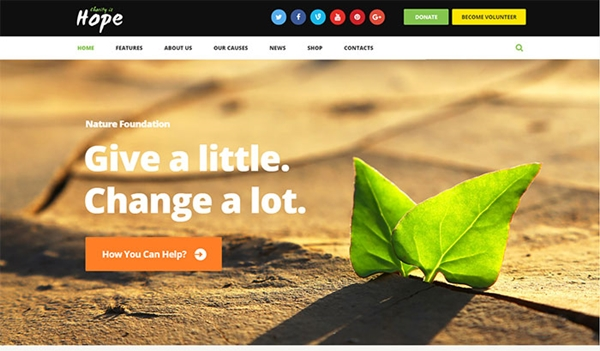 Hope - Non-Profit Charity WordPress Theme