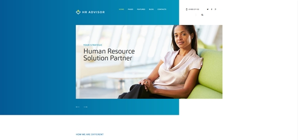 Human Resources & Business Consulting WordPress Theme