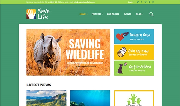 Save Life - Non-Profit Organization WordPress Theme