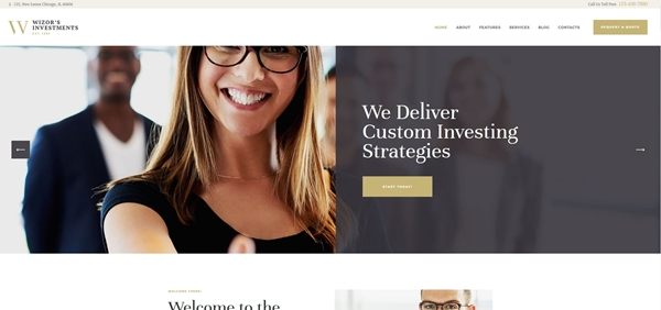 Investments & Business Consulting WordPress Theme