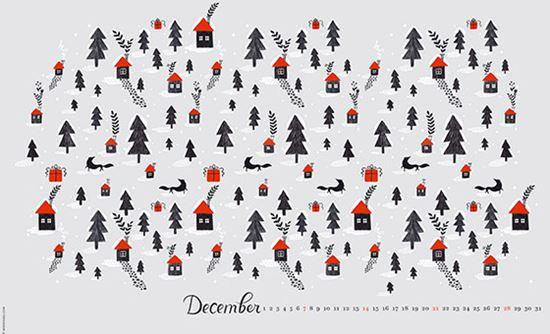Minimalist Christmas Tree Christmas Desktop Wallpaper Hd